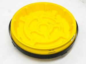 Eagle Manufacturing Drum Dolly Safety Bin On Wheels yellow