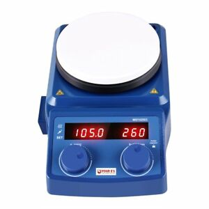 5 Inch Led Digital Hotplate Magnetic Stirrer With Ceramic Coated Plate 50 1500rp