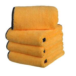 4 Pcs Microfiber Cleaning Cloth Soft Car Towel Auto Drying Care 16 X24