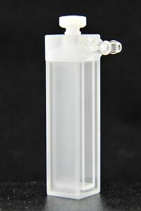 Water Jacketed Uv Quartz Cuvette 1 00ml type 54 Ptfe Cap Front Facing Tubes