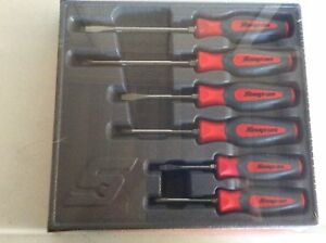 New Snap On 6 Pc Combination Instinct Hard Grip Red Screwdriver Set Shdx60r