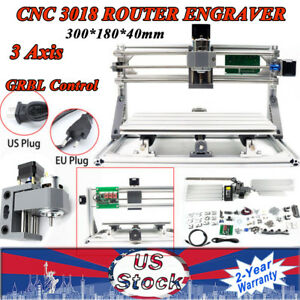 Mini Cnc Kit 3 Axis 3018 Router Milling Wood Engraving Machine Printer 3d Window