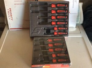 New Snap On Lot 6pc Combination Instinct Soft Grip Screwdriver 5pc Torx Set Red
