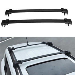 Oe Style Black Roof Rack Cross Bars Luggage Cargo Carrier For Jeep Compass 17 18