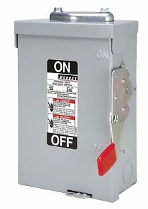 Murray 30 amp Fusible Safety Switch With 2 Poles