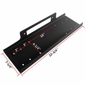 Universal Winch Mounting Plate Mount Bracket Fit For Truck Trailer Suv Jeep