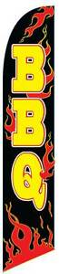 Bbq Flames Windless Advertising Sign Swooper Flag And Pole Only 2 5 Wide