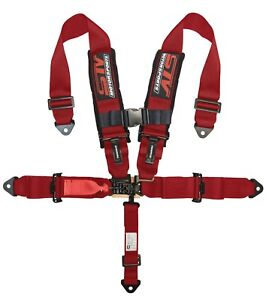Stv Motorsports Sfi Certified Safety Seat Belt Harness 5 Point 3 Inch Red