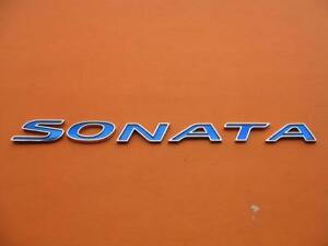 11 12 13 14 Hyundai Sonata Hybrid Blue Rear Lid Emblem Logo Badge Sign Oem