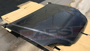 Vented Style Carbon Fiber Hood For 1999 2000 Honda Civic Coupe Sedan Hatch