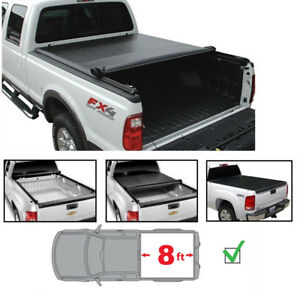 Tonneau Cover For 2003 2018 Dodge Ram 2500 3500 With 8ft Bed Lock Soft Roll Up