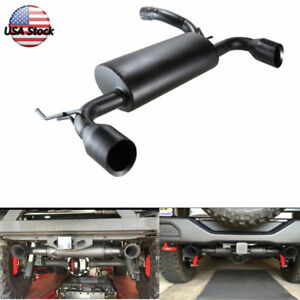 Metal Matte Black Axle Back Exhaust System For 07 18 Jeep Wrangler Jk Unlimited