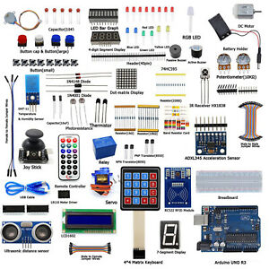 Ultimate Starter Learning Kits For Arduino Uno R3 Lcd1602 Servo Process New As