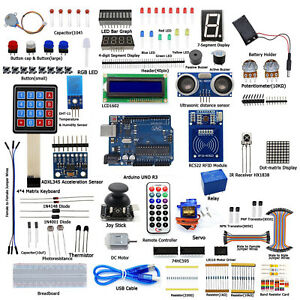 Ultimate Starter Diy Kits For Arduino Uno R3 Lcd1602 Servo Processing Led New As