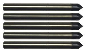 5 Pcs 1 8 4 Flute 90 Degree Carbide Chamfer Mill Tialn Coated