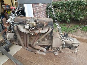 Fj40 1f Engine And 3 Speed Transmission And Transfer Case