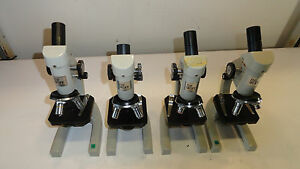 Lot Of 4 The Skope By Science Kit Microscope With Objectives