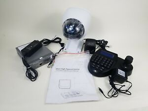 Panasonic Wj gxe500 Network Video Encoder With Outdoor Cctv Ptz Camera Bundle