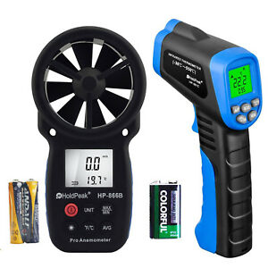 Anemometer Ir Laser Gun Temperature Thermal Heat Infrared Digital Thermometer