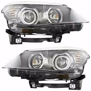 Bmw 5 Series E60 2008 2010 Halogen Only Headlights Head Lights Lamps Pair New