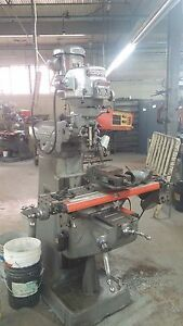 Bridgeport Milling Machine 2 Hp Series 1 With 2 Axis Dro