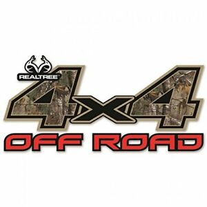 4x4 Off Road Contour Cut Decal In Realtree Xtra Camo Size 625in X 1325in
