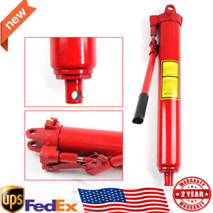 8 Ton Hydraulic Long Ram Floor Jack Lift Jacking Shop Crane Steel Engine Lifting