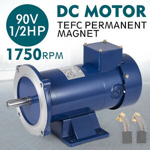 Dc Motor 1 2hp 56c Frame 90v 1750rpm Tefc Magnet Permanent Grease Applications