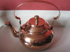 Antique Victorian Large Copper Kettle With Dovetailed Joint No 10