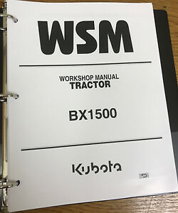 Kubota Bx1500 Bx 1500 Tractor Service Repair Manual Binder