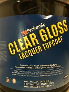 Performix Plasti Dip Clear Gloss Lacquer Topcoat 5 Gallon