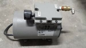 Thomas Vacuum Veneer 1 8 Hp Piston Air Compressor Pump 617ca22