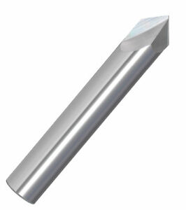 1 4 82 Included 2 Flute Single End Carbide Chamfering Tool Un coated Usa