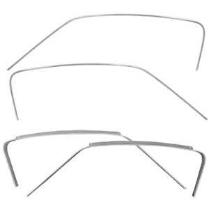 1965 66 Mustang Fastback Roof Drip Rails Roof Drip Rail Moldings 4 Pieces Set