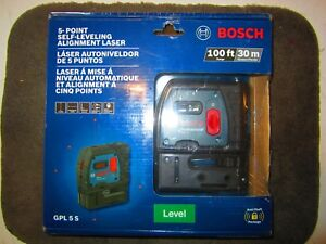 new Bosch 5 Point Self Leveling Plumb And Square Laser gpl 5 S