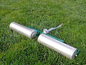 Rare New 1980 Weather Tec 1 Sprinkler Dual Roller Rolling Base turf Pasture