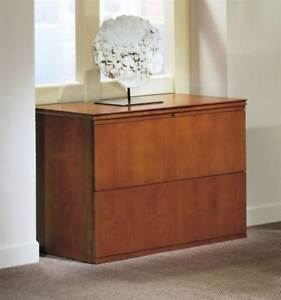 Forte 2 drawer Lateral File Cabinet honey Cherry id 487961