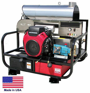 Pressure Washer Hot Water Skid Mounted 5 Gpm 3000 Psi 13 Hp Honda Eng Ca