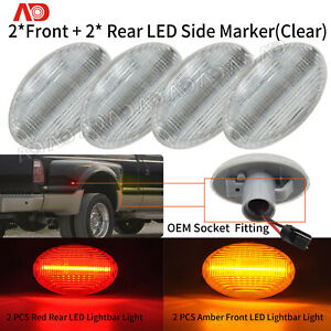 4pcs Led Dually Bed Front rear Side Fender Marker Light For Ford F150 F250 F350