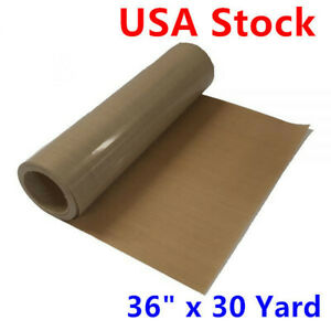 36 X 30 Yard Self adhesive Teflon Fabric Sheet Roll 5mil Thickness Resistant