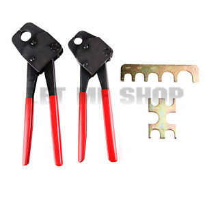2 Pex Crimping Tools 1 2 3 4 Pex Crimper With Gonogo Gauge Copper Ring
