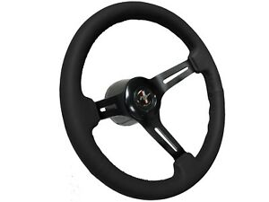 1968 1978 Ford Mustang Black Leather Steering Wheel Covert Kit Running Pony