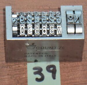 Letterpress Numbering Machine Count 76 H
