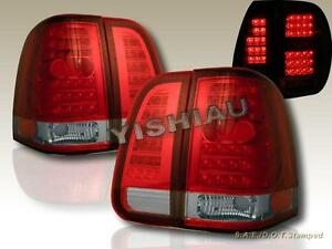 2003 2006 Lincoln Navigator Red Clear Led Tail Lights 4 Piece Set