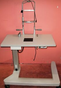 Haag Streit Bq900 Bx900 Slit Lamp Table With Power Supply And Back