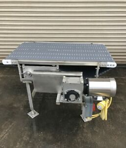 24 X 46 Long Ss Food Belt Conveyor Feed Pack Table