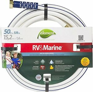 Swan Element Marine Rv Camping And Boating Water Hose 50 Ft 5 8 Diameter White