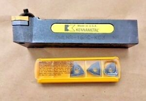 Kennametal Dwlnr 164c kc3 55 Deg tool Holder With Inserts