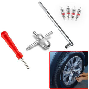 Truck Wheel Tire Valve Stem Puller Remover Install Cores Repair Fix Tool Kit