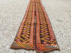 Narrow Kilim Runner Old Turkish 280x32 Cm Chic Vintage Country Home Decor Kelim